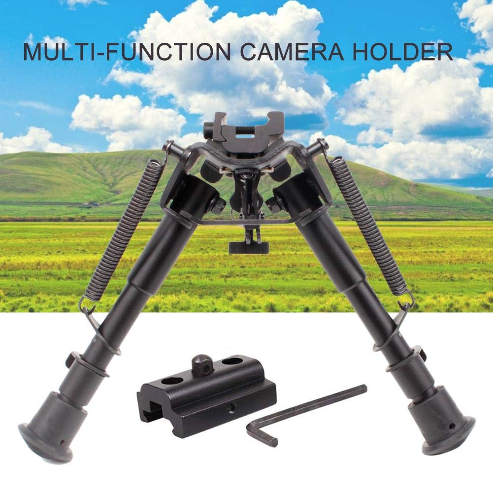 Telescopic Camera Bipod Aluminum Outdoor Camera Stand Quick Release Retractable Metal Bipod 20MM Holder for Uneven Terrain,6-9 Inch by Red-eye