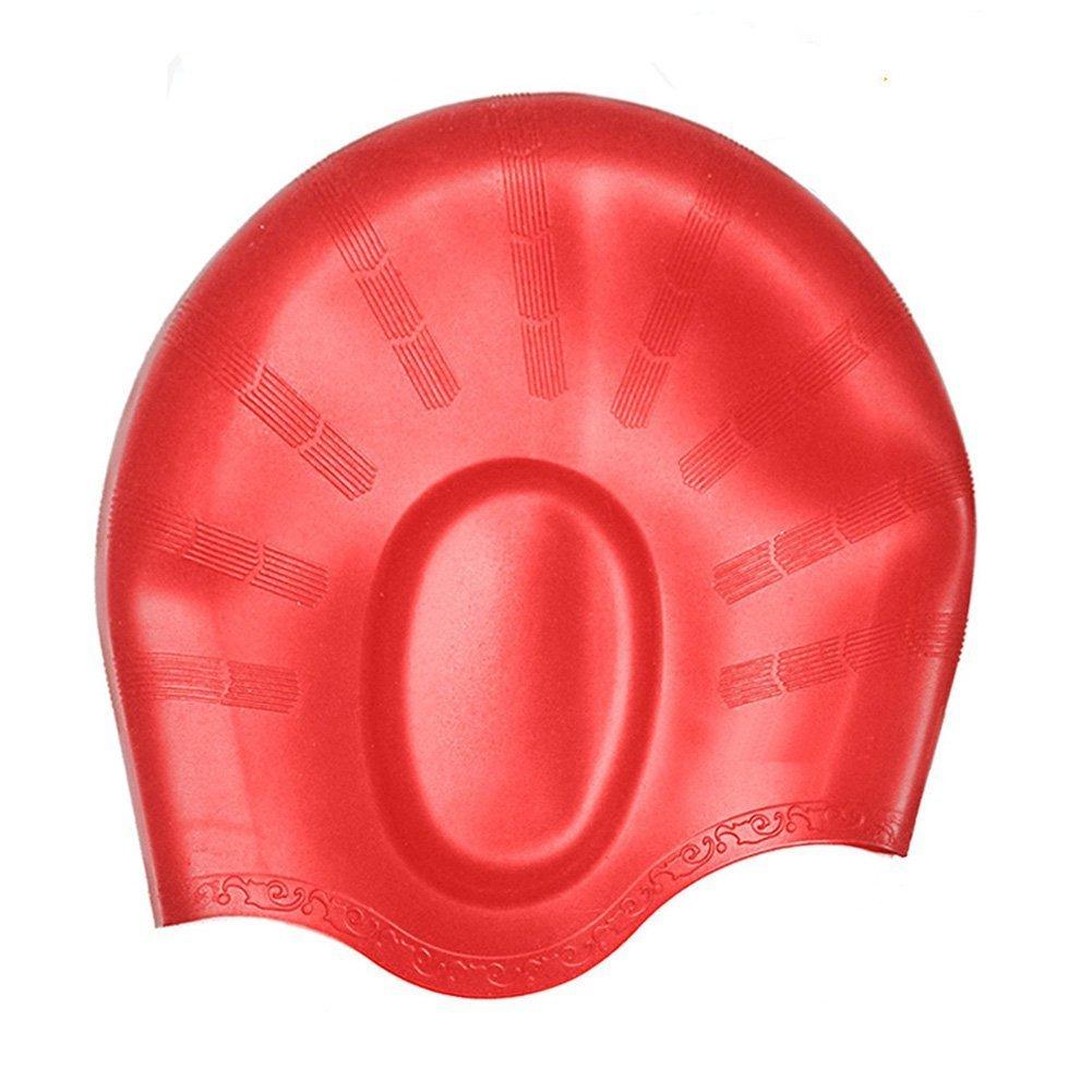 Lodabodkin Gorra de natación para hombres y mujeres-fuerte gorra ...