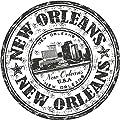 New Orleans City USA United States Travel Grunge Stamp Sticker Decal Design 5'' X 5''