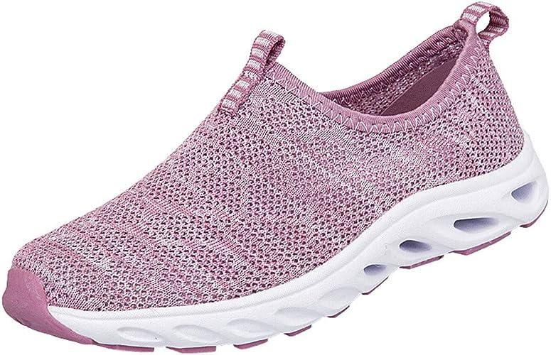 Ansenesna Zapatos Mujer Deportivos Casual Moda Zapatillas Malla Transpirables, Medias Y Viejas, Zapatillas Sin Cordones Zapatillas Correr: Amazon.es: Zapatos y complementos