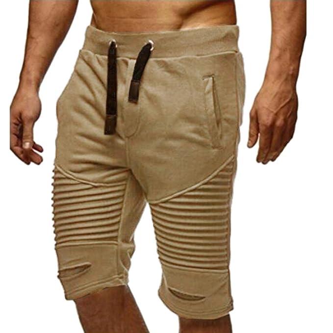 zycShang Pantalones de los hombres pantalones de chándal pantalones de cintura elástica Sportwear holgados pantalones casuales… H2V5MVa6HQ
