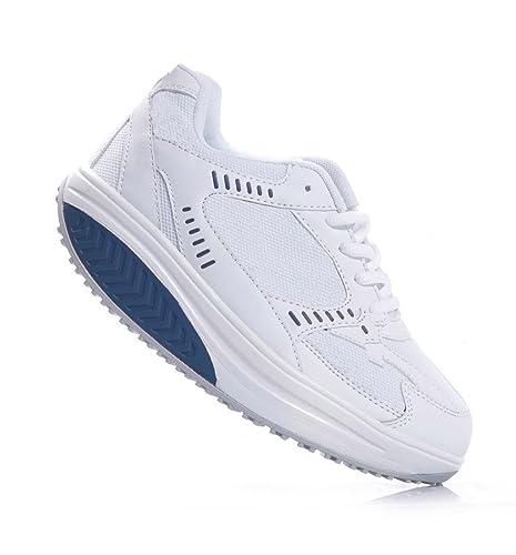 MAPLEAF - Zapatillas de gimnasia de piel sintética para mujer Size: 41 nfCkvNpfsl