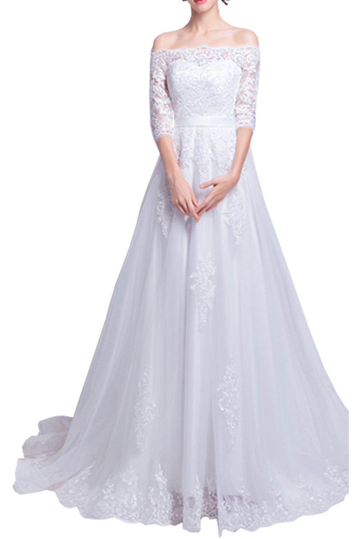 (ウィーン ブライド) Vienna Bride ウェディングドレス 花嫁ドレス ドレス レース ブライダル ふんわりとする裾 編み上げ ハイネック 透け感 オープンバック ウエストニッパー アップリケ B072KJQHB1 15|ホワイトR ホワイトR 15