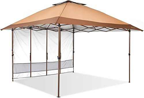 Suntime Pop Up Canopy Outdoor Portable Party Wedding Tent with One Sidewall NOT Netting sidewalls