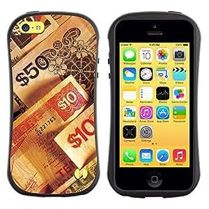 All-Round híbrido de goma duro caso cubierta protectora Accesorio Generación-I BY RAYDREAMMM - Apple iPhone 5C - Money Numbers Wealth Rich Symbol 50