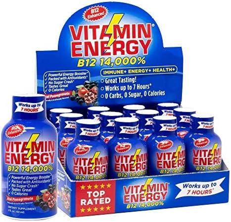 Vitamin Energy Shots Tasting Pomegranate