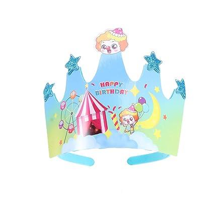 BESTOYARD 2pcs niño Corona Capa de cumpleaños Celebración ...