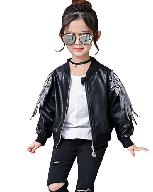 515db39826 ShiFan Giacche PU Pelle Bambini Giubbotti Moto Manica Lunga Cappotti per  Bambini E Ragazz