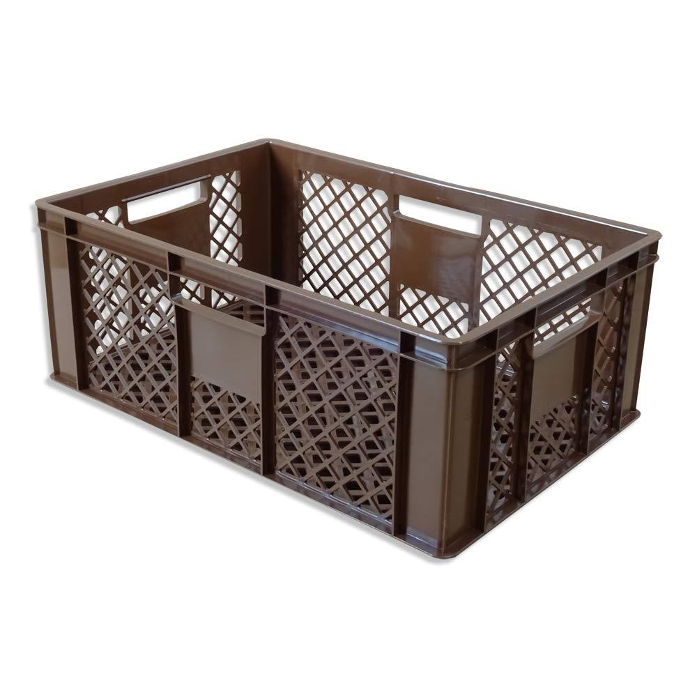 Brotkiste Obstkiste 5er Set B/äckerkiste Vorratsbox braun H/öhe 20 cm