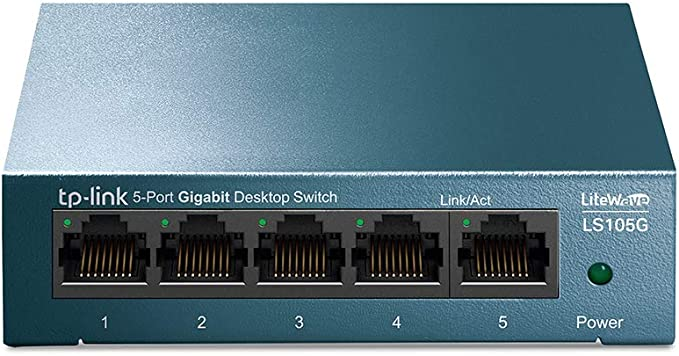 TP-Link LS105G - Switch Ethernet 5 Puertos (10/100/1000Mbps), Switch Gigabit, Switch WiFi, Carcasa metálica, Ultraligero, Super disipación de Calor, QoS, Ahorro de Energía, Silencioso, No Gestionado: Amazon.es: Informática