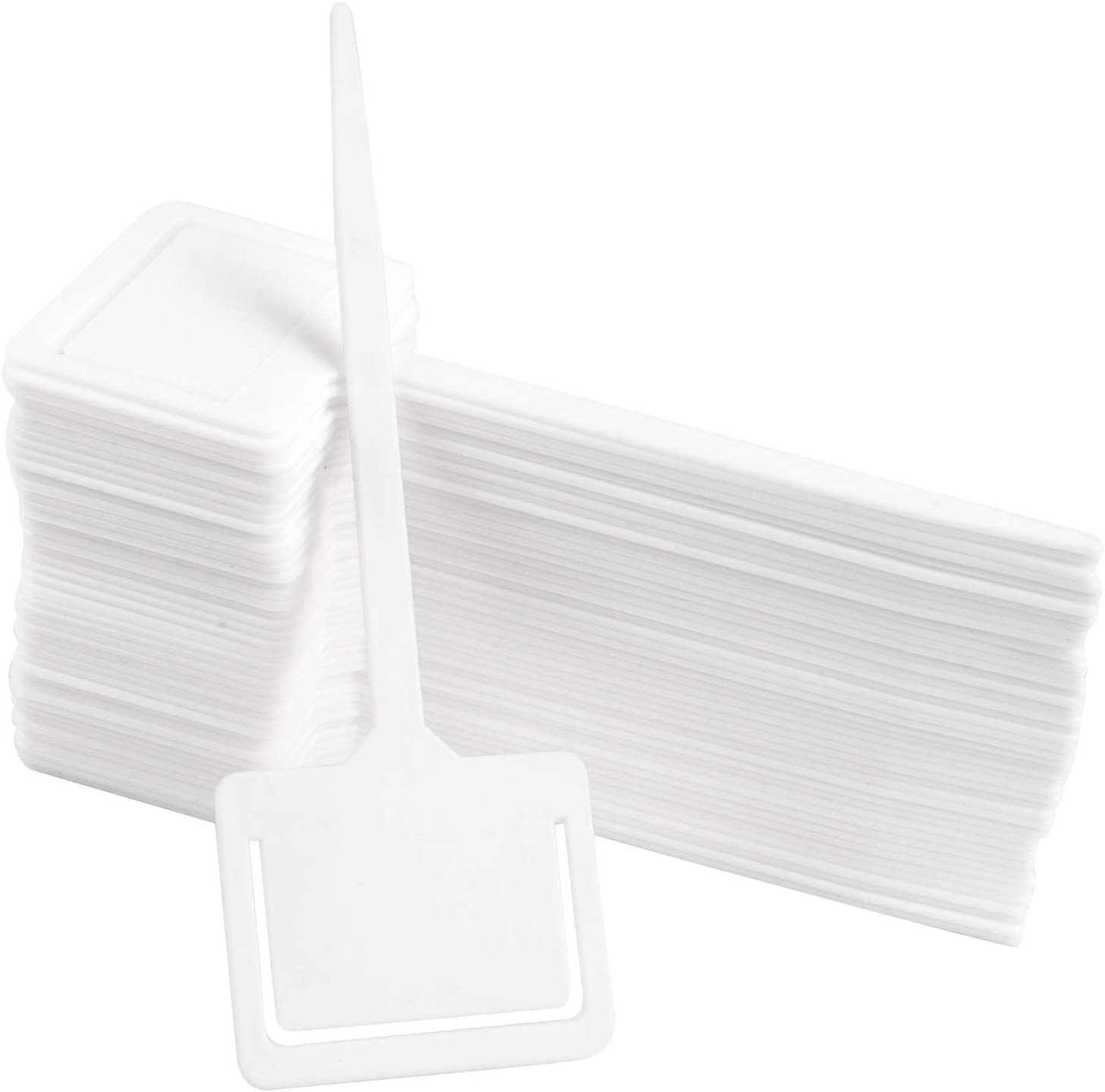 "45 Pcs Plant Markers, T-Type Garden Labels, Premium Waterproof Garden Marker for Outdoor Garden White 2.5""x7.2"""