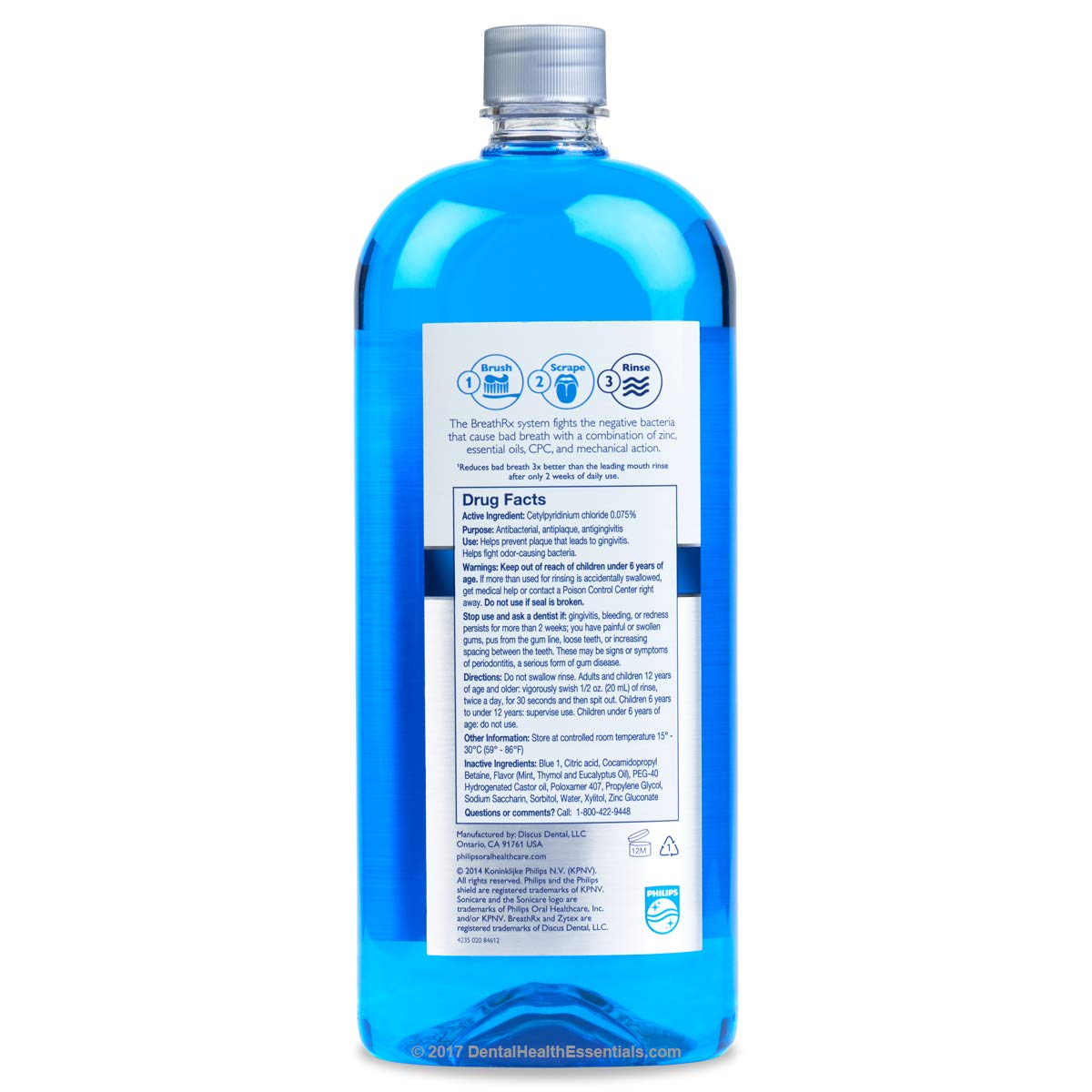 BreathRx DIS365 Mouth Rinse 33oz (2 Pack) by BreathRx (Image #2)