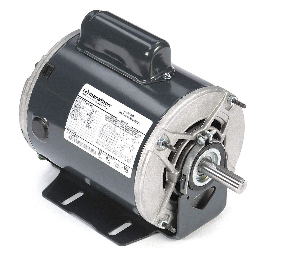 Marathon C1156 56 Frame Open Drip Proof 5KC46LN0149X Belt Drive Motor, 3/4 hp, 1725 RPM, 115/208-230 VAC, 1 Split Phase, 1 Speed, Ball Bearing, Resilient Ring Mount