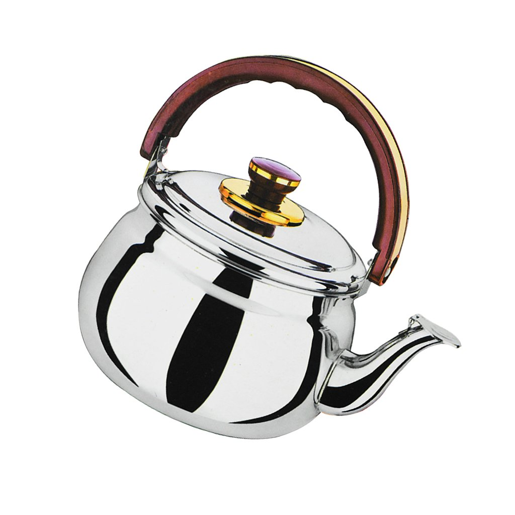 F Fityle Wasser Flö tenkessel Wasserkessel Wasserkocher Edelstahl Pfeife Wasserkocher, Leicht und Tragbar - 0.6L