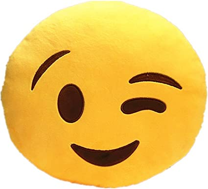 Frantic Soft Watsapp Smiley Cushion, 35cm(Yellow)