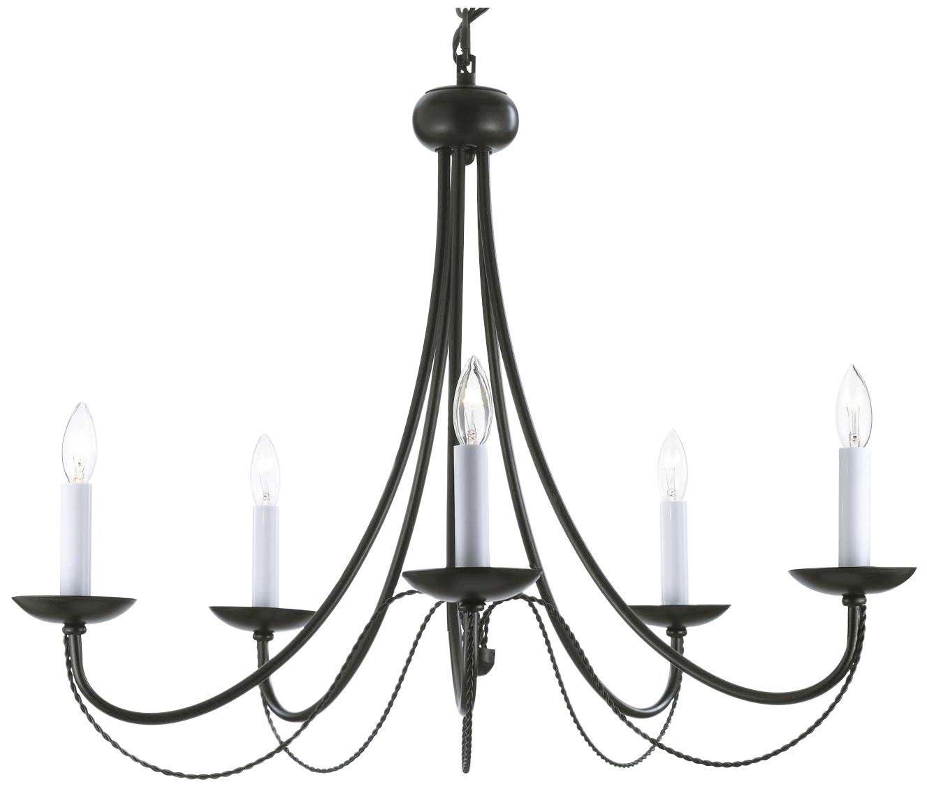 Wrought iron chandelier chandeliers lighting h22 x w26 amazon arubaitofo Images