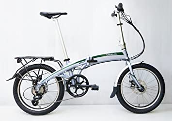 Oyama CX E8D metálico plata eléctrica 36 V bicicleta plegable bicicleta