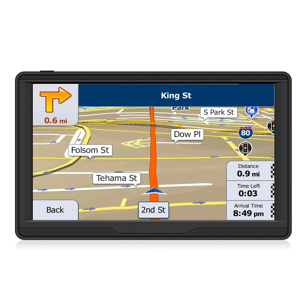 GPS Navigation for Car,Car GPS Navigation System,7 Inch Touchscreen,HD Voice Prompt System,GPS Navigator, Vehicle GPS Navigation with USB Cable and Car Charger,Lifetime Free Update Map