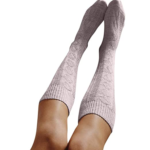 4faa417a406d8 Image Unavailable. Image not available for. Color: Clearance Women  Christmas Thigh High Long Stockings Knit Over Knee Socks Xmas Duseedik