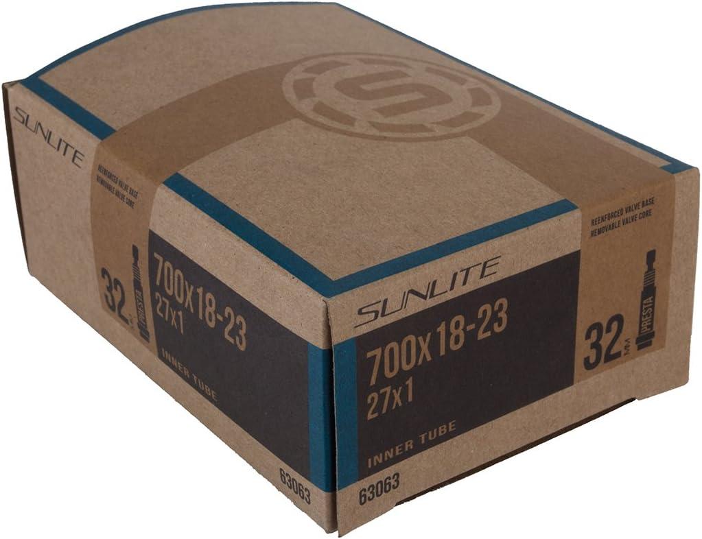 SunLite 48mm Presta Valve 700x18-23c Road Bicycle Tube 27x1-4 Tubes