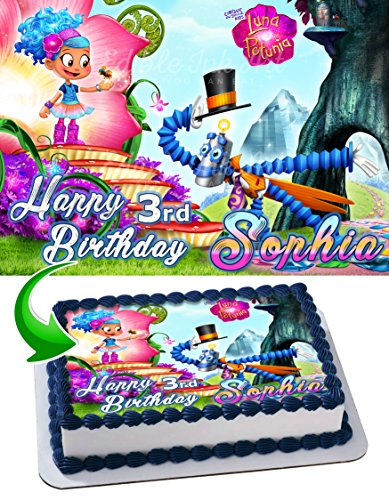 Luna Petunia Edible Image Cake Topper Personalized Icing Sugar Paper A4 Sheet Edible Frosting Photo Cake 1/4 ~ Best Quality Edible Image for cake