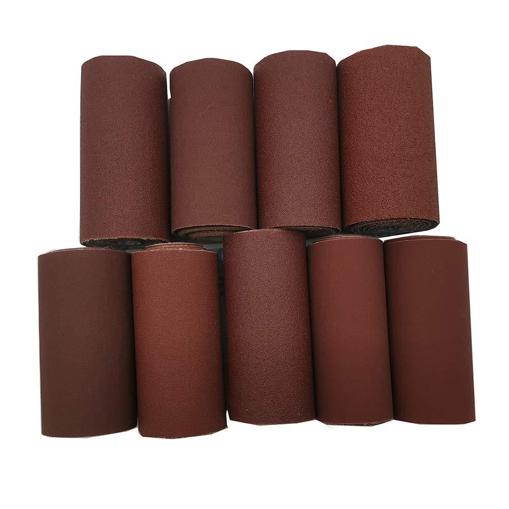 2 Meter Grit 80//100//120//150//180//240//320//400//600 Wide Emery Cloth Roll Sanding Paper Grinding Polishing Tools Metalworking 600