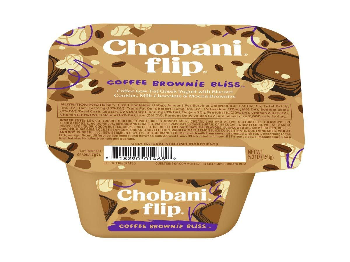 Chobani Flip Coffee Break Bliss Greek Yogurt, 5.3 Ounce -- 12 per case.