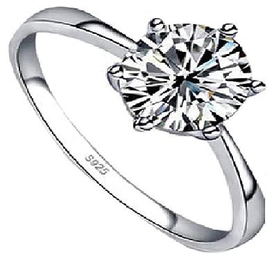 ce24eda5f A.K Fashion Hub Sterling Silver American Diamond Trendy Silver Rings for  Girls & Women [Ring