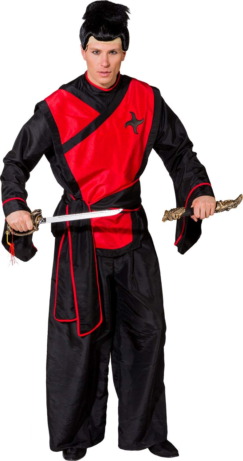 Fancy Me Uomo Samurai Warrior Giapponese Fighter National Dress in Tutto Il Mondo Carnevale Costume Travestimento