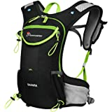 Mountaintop Running Backpack Hydration Pack for Hiking Cycling Climbing Womens & Men - with Multiple Storage Compartment