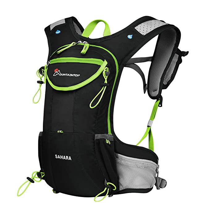 Amazon.com : MOUNTAINTOP Running Hydration Backpack for Hiking Biking Cycling Climbing Water Hydration Pack Race Vest : Sports & Outdoors