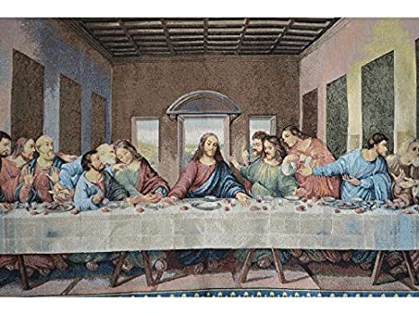 Buy Tache Home Fashion 9148 Last Supper Jacquard Vintage Tapestry