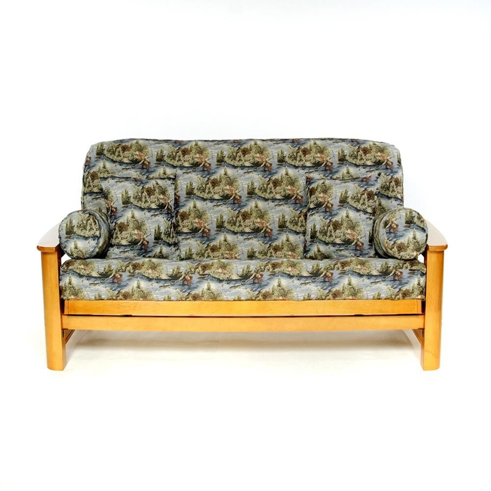 LS Covers Fly Fishing Scene Full FUTON Cover Fits Mattress 54x75 x 6 to 8