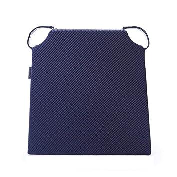 GXQ Cojines trapezoidales Memoria Lenta Espuma Cojines para sillas de Comedor Silla de Color sólido Cinta de Velcro (Color : Azul): Amazon.es: Hogar