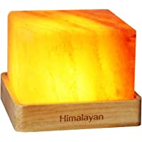 Natural Himalayan Cordless Salt Lamp Rock Crystal Rechargeable(Built-in Battery) Present for Office,Baby,Child, Bedroom…