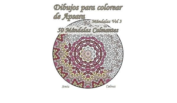 Amazon.com: Dibujos para colorear de Apsara - Mándalas Volumen 3 ...