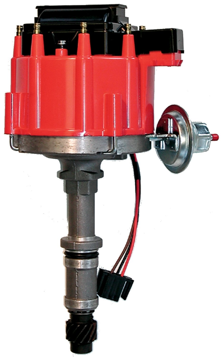 Proform 67088 Vacuum Advance Hei Distributor With Steel Ford 460 Msd Wiring Gear And Red Cap For Buick 215 350 Automotive