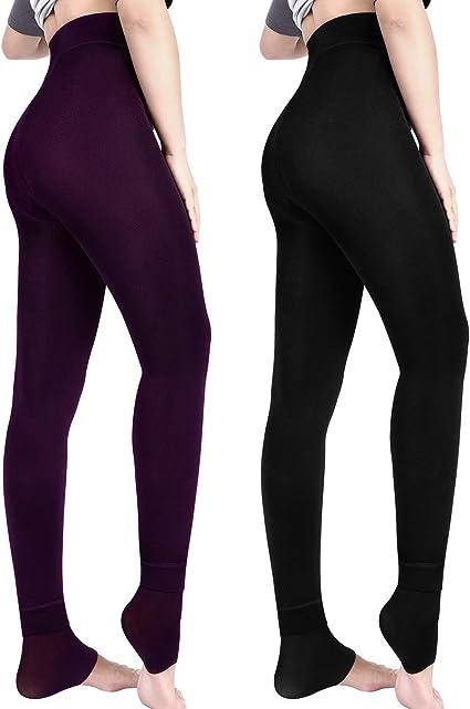 Damen Winter dicke warme Leggings Fleece gefütterte Stretchhose Slim Leggings
