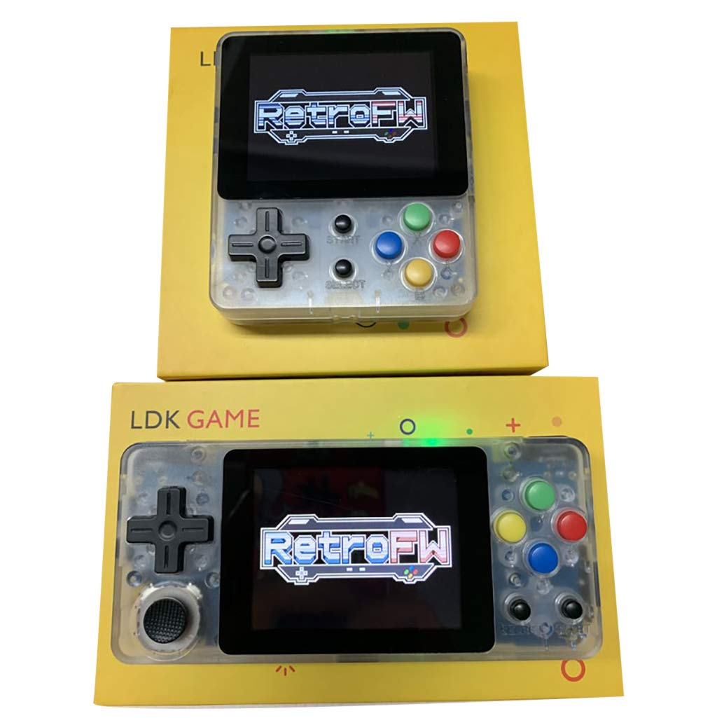 Basde LDK Game Handheld Gaming Console, Retro Portable Gaming System Handheld Game Console Kids Adults Screen by 2.6 Thumbs Mini Palm Nostalgia Console Children of Family TV Video (Yellow) by Basde (Image #6)