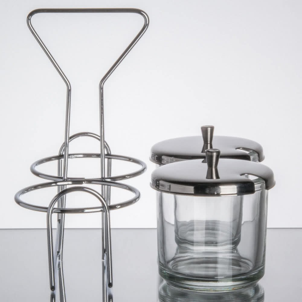 Glass Jars and Stainless Steel Lids By TableTop King 2 Compartment ...