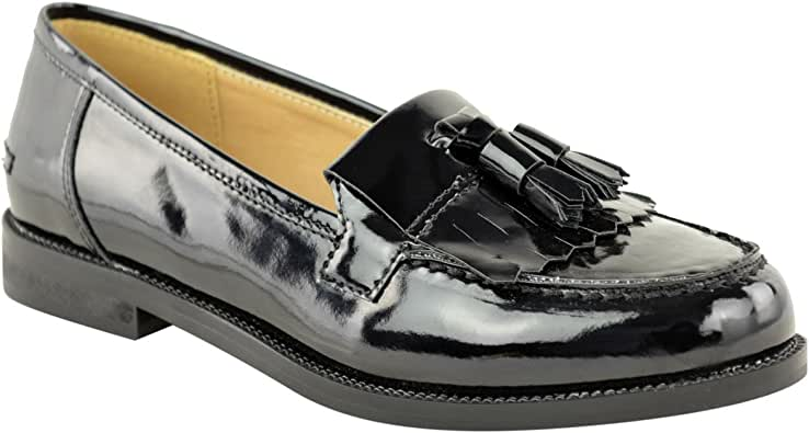 Fashion Thirsty Womens Loafers Flat Casual Office Work School Fringe Tassel Dress Shoes