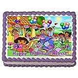 Dora the Expolorer Edible Frosting Sheet Cake Topper - 1/4 Sheet by Cake Topper Designs