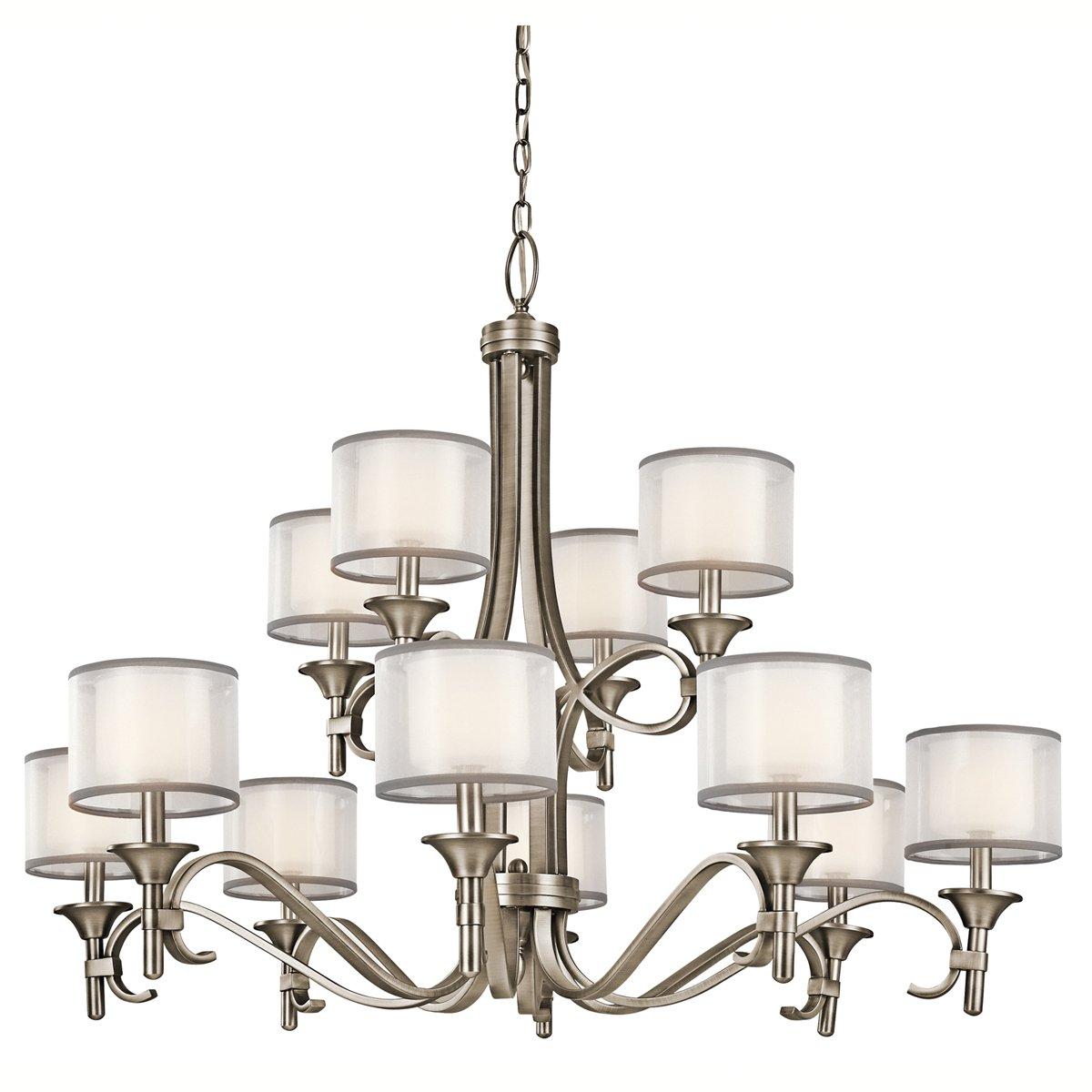 kichler 42382miz lacey chandelier 9 light mission bronze kichler