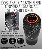 JDM CARBON FIBER with Red LED Light MANUAL Trans SHIFT KNOB hot [Super