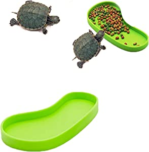 Ailinda Foot Shape Reptile Food Water Bowl for Pet Aquarium Ornament Terrarium Dish Plate Lizards Tortoises Small Reptiles