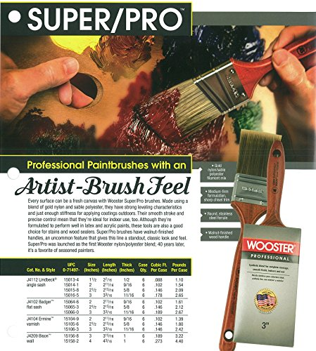 Wooster Brush J4209-4 Super/Pro Bison Wall Paintbrush, 4-Inch