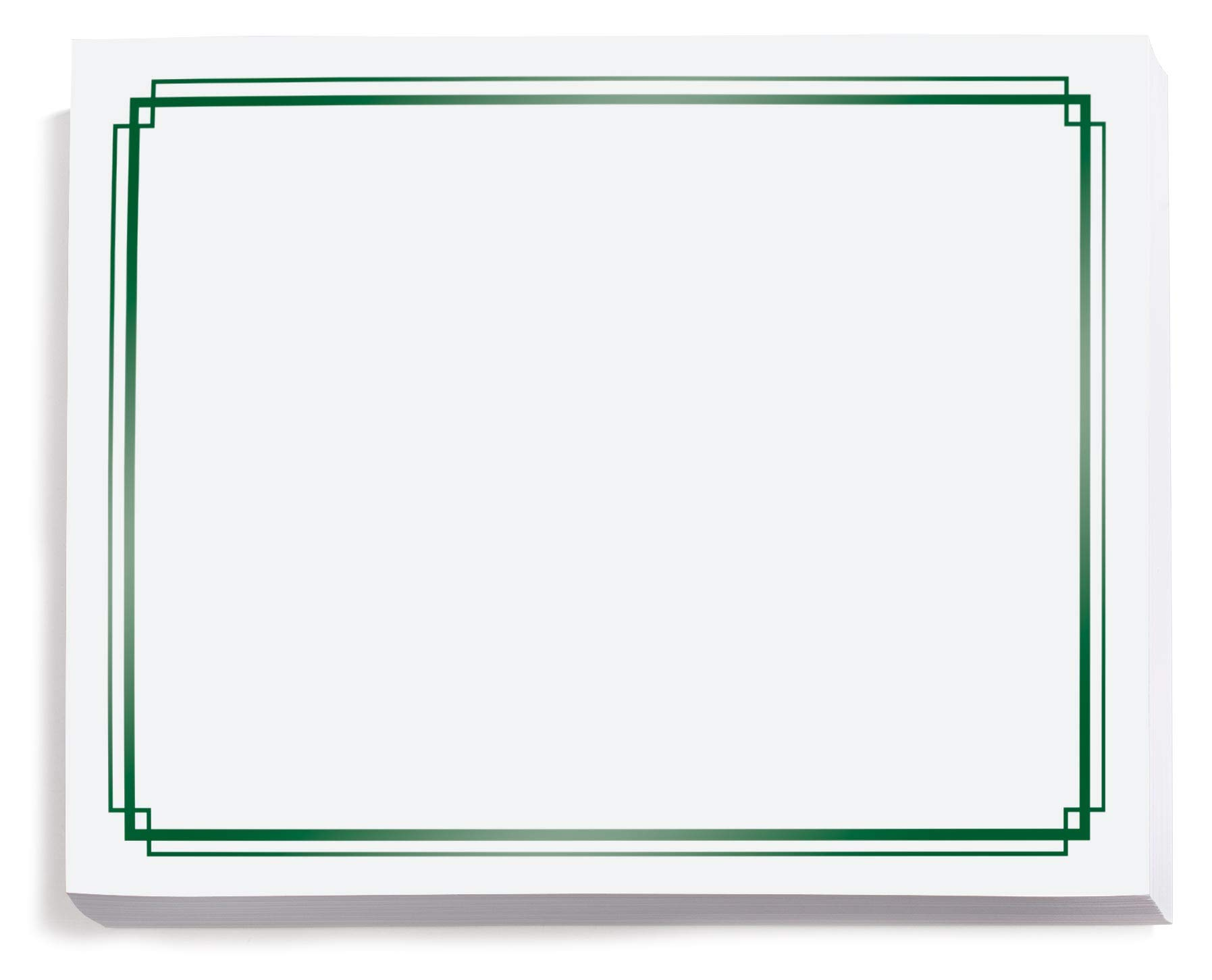 White with Green Foil Border Certificates, 8.5 x 11, 50 Count by PaperDirect