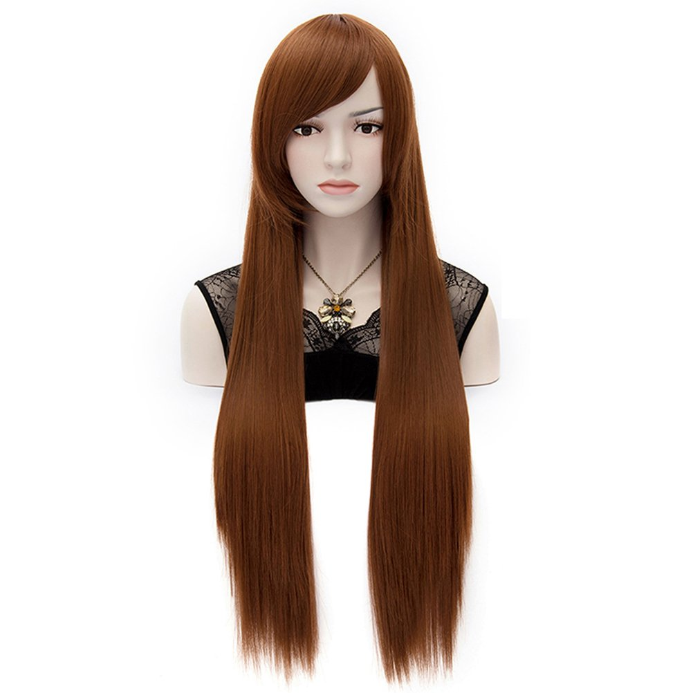 Amybria Men's Beautiful Male Black Short Straight Hair Wig/Wigs Cosplay Party 2051J0190/0502 FN