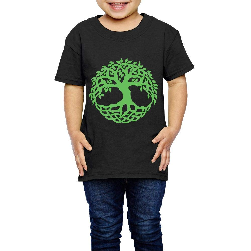 XYMYFC-E Celtic Tree of Life 2-6 Years Old Child Short-Sleeved T Shirts