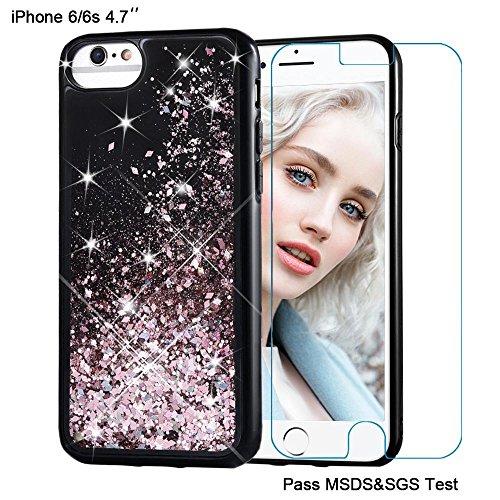 Maxdara iPhone 6 Case, iPhone 6s Case Glitter Liquid Sparkle